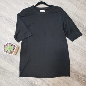 Mansilk Men's Silk Tshirt Black Short Sleeve M